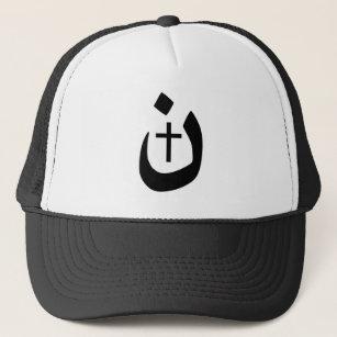 3f46571910bb1 Christian Nazarene Cross Black and White Trucker Hat