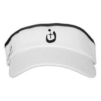 Christian Nazarene Cross Solidarity Black Style Visor