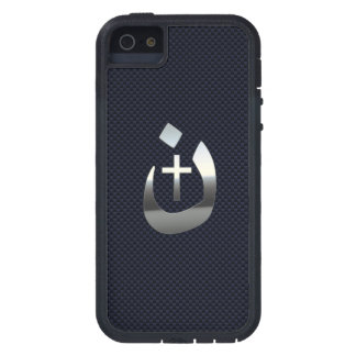 Christian Nazarene Cross Symbols on Blue Case For iPhone SE/5/5s