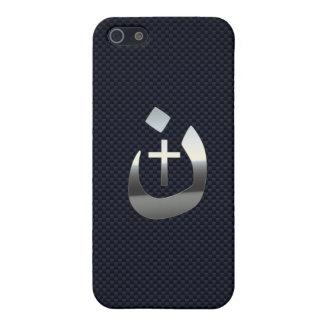 Christian Nazarene Cross Symbols on Blue iPhone SE/5/5s Case