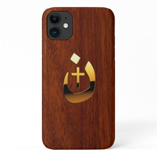 Christian Nazarene Solidarity on Mahogany Style iPhone 11 Case