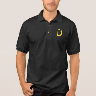 Christian Nazarene Spiritual Symbol in yellow Polo Shirt