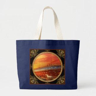 Christian - Noah's Ark - The beginning Large Tote Bag