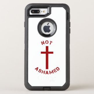 Christian Not Ashamed Red Cross and Text Design OtterBox Defender iPhone 7 Plus Case