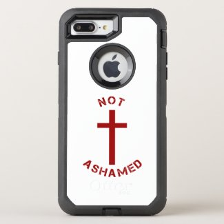 Christian Not Ashamed Red Cross and Text Design