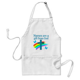 CHRISTIAN NURSING PRAYER DESIGN ADULT APRON