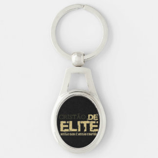 Christian of the elite Silver-Colored oval metal keychain