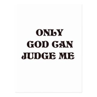 "Christian ""Only God Can Judge Me"" Design Postcard"