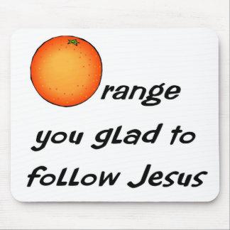 Christian orange fruit design mousepads