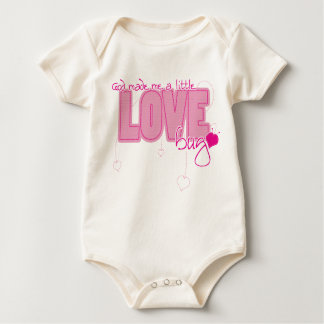 Christian Organic baby vest - Little Love Bug Baby Bodysuit