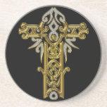 Christian Ornate Cross 24 Beverage Coaster