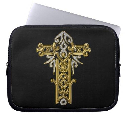 Christian Ornate Cross 24 Computer Sleeve