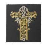 Christian Ornate Cross 24 Notepad