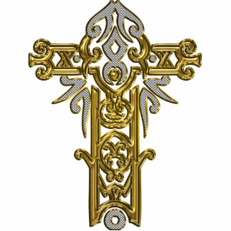 Christian Ornate Cross 24 Photo Cut Out