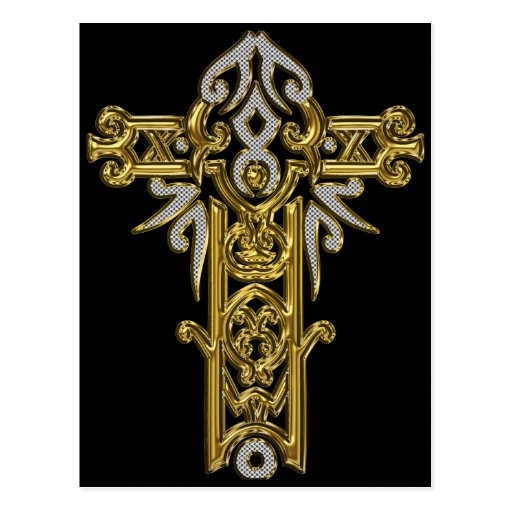 Christian Ornate Cross 24 Post Card