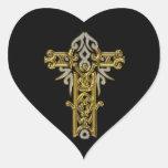 Christian Ornate Cross 24 Stickers