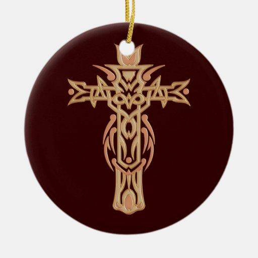 Christian Ornate Cross 60 Christmas Ornament