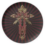 Christian Ornate Cross 74 Plates