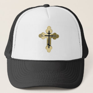 Christian orthodox cross trucker hat