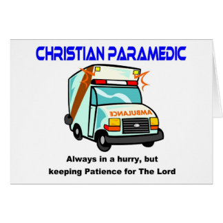Christian Paramedic religious gift Greeting Card