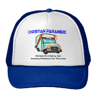 Christian Paramedic religious gift Hats
