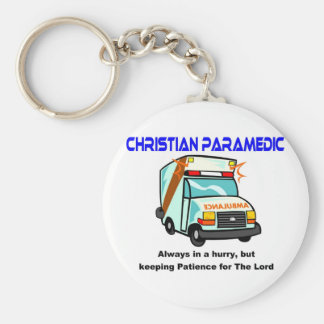 Christian Paramedic religious gift Keychain