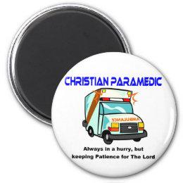 Christian Paramedic religious gift Magnet