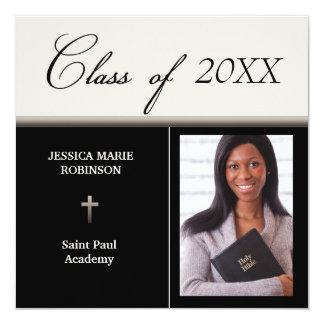 Christian Parochial School Photo Graduation Card