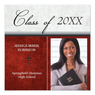 Christian Parochial School Photo Graduation Red Card