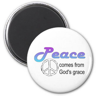Christian peace sign God's grace 2 Inch Round Magnet