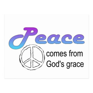 Christian peace sign God's grace Postcard