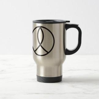 Christian Peace Sign in plain Black 15 Oz Stainless Steel Travel Mug