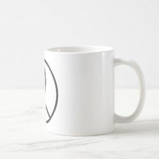 Christian Peace Sign in plain Black Classic White Coffee Mug