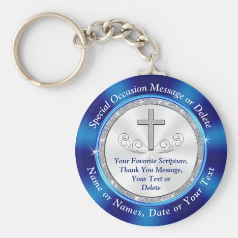Christian Personalized, Church Favors, BULK or One Keychain