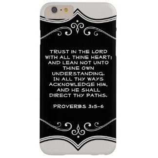 Christian Phone Case Custom Favorite Bible Verse Barely There iPhone 6 Plus Case