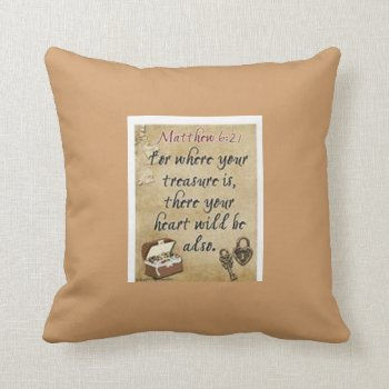 Christian Pillow With Bible Verses by CREATIVEforBUSINESS at Zazzle