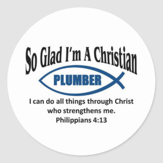 Christian Plumber Classic Round Sticker