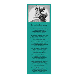 Christian poem / hymne : Sin makes God angry 2 Poster