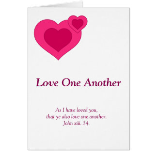 Christian poem: Love one another Card