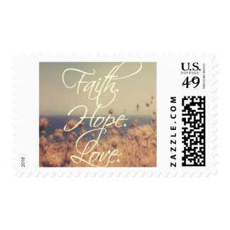 Christian Postage Stamp - Faith. Hope. Love.