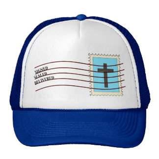 Christian Postage Stamp Hat