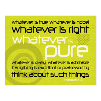 Christian postcard: Whatever is pure