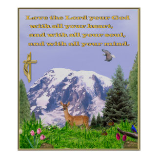 Christian poster Love the lord with all your heart