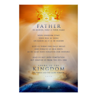 Christian poster - The Prayer of Jesus Christ