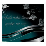 Christian Poster with Inspirational Saying