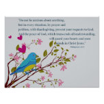 Christian Poster with Philippians Scripture Bird
