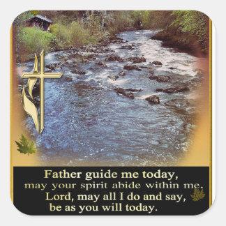 Christian Prayer  art Square Sticker