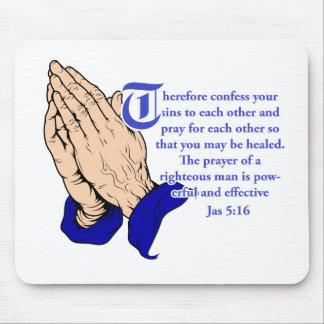 christian prayer Design Mouse Pad