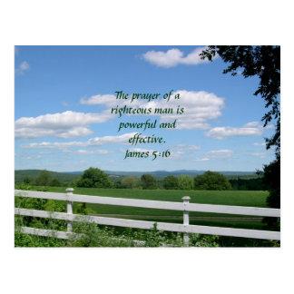 Christian Prayer Postcard