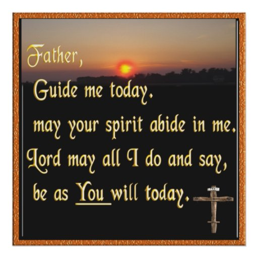Christian prayer poster